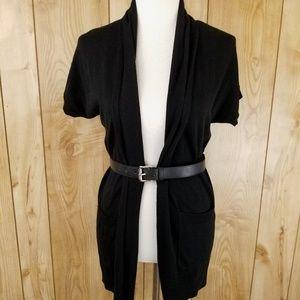 Michael Kors Black Belted Cardigan Sweater XS